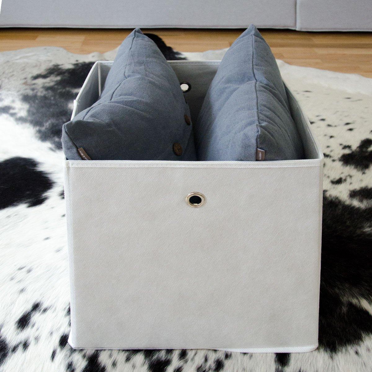 dunedesign faltbox set 4 boxen f r kallax regal wei. Black Bedroom Furniture Sets. Home Design Ideas