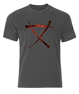 Warhammer Skaven Symbol Mark Logo 40K Mens Tee Shirt Top - Charcoal - 19 inches - Medium