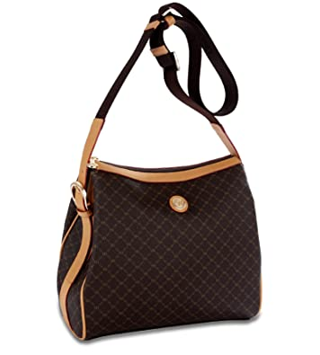 72f182341f Signature Brown Top Zip Messenger Bag by Rioni Designer Handbags ...