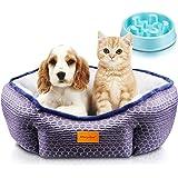 Cama Gato, Cama Perro Pequeño, Cama para Mascotas con Suave Cojín Desmontable, Lavable a Máquina, Sofá Cama para Gatos y…