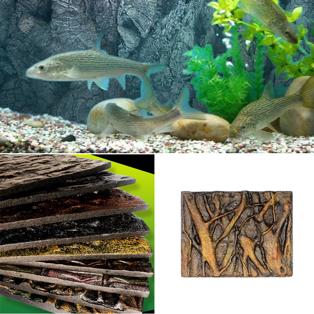 Amazon.com : Gbell Aquarium 3D Foam Rock Reptile Stone Decor Cuttable Aquarium Background Backdrop Fish Tank Board Decor, 1Pcs : Pet Supplies