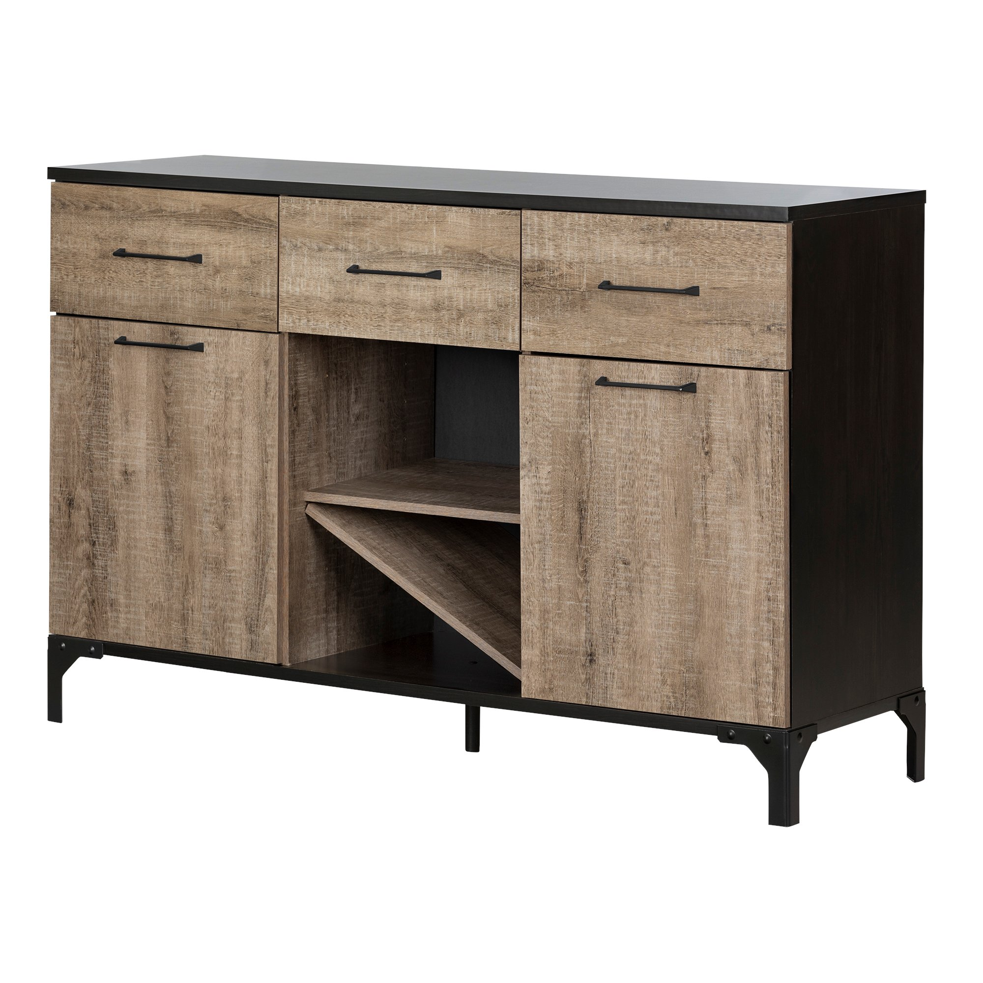 South Shore Valet Buffet with Wine Storage by South Shore