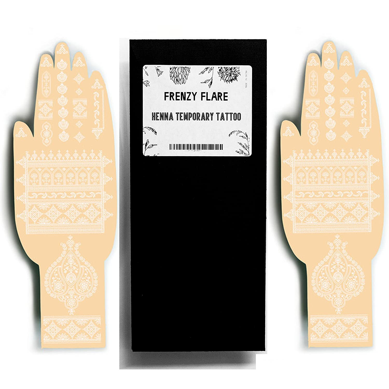 86ed3c86d3acc Amazon.com : Rose Gold Henna Temporary Tattoos - Sexy Jewel Henna Designs -  Be the Show Stopper by Beautifying your Hands or Feet with Delicate Henna  ...
