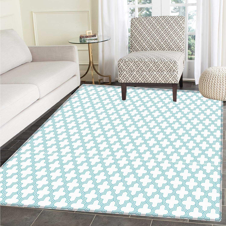 Quatrefoil Area Rug Carpet Pale Color Geometric Girih