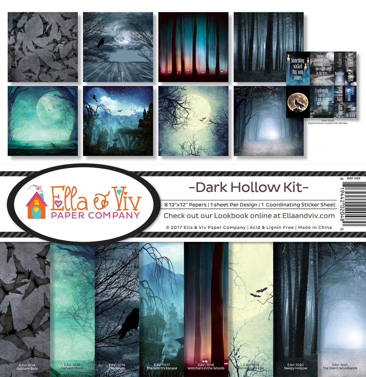 Ella & Viv by Reminisce Dark Hallow Scrapbook Collection Kit EAV-1023