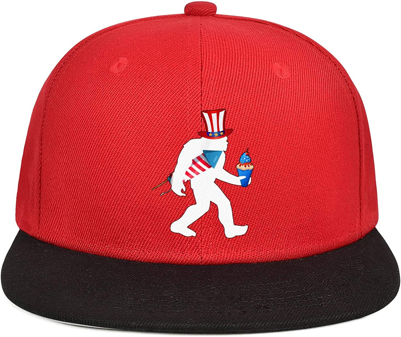 KYTKYTT Unisex Mesh Snapback Caps USA 4 Th of July and Live Free Brim Hip Hop Baseball Hat