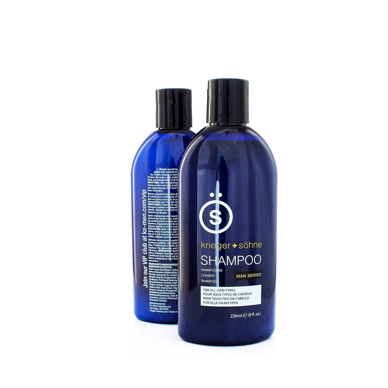 K + S Salon Quality Men's Shampoo - Tea Tree Oil Infused To Prevent Hair Loss, Dandruff, Dry Scalp (8 oz Bottle) krieger + söhne 853831005177