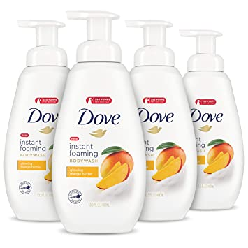 Amazon Com Dove Foaming Body Wash Body Wash For All Skin Types Mango Butter For Glowing Skin 13 5 Oz 4 Count Beauty