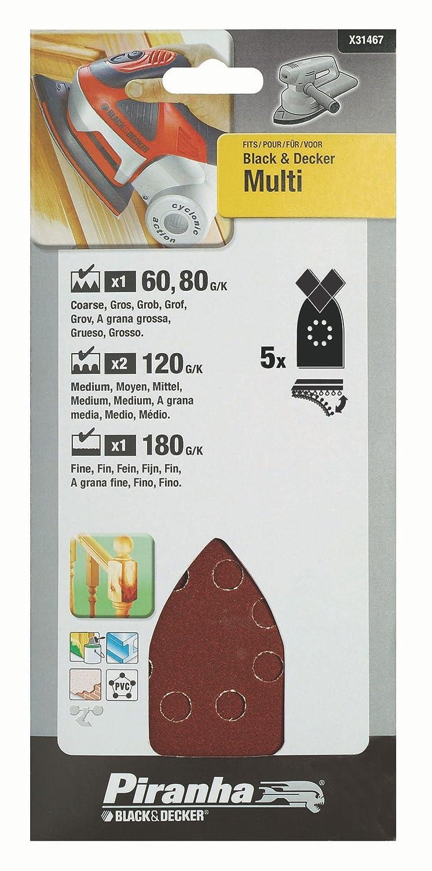 Set of 5 Piranha Multi Sander Sheet
