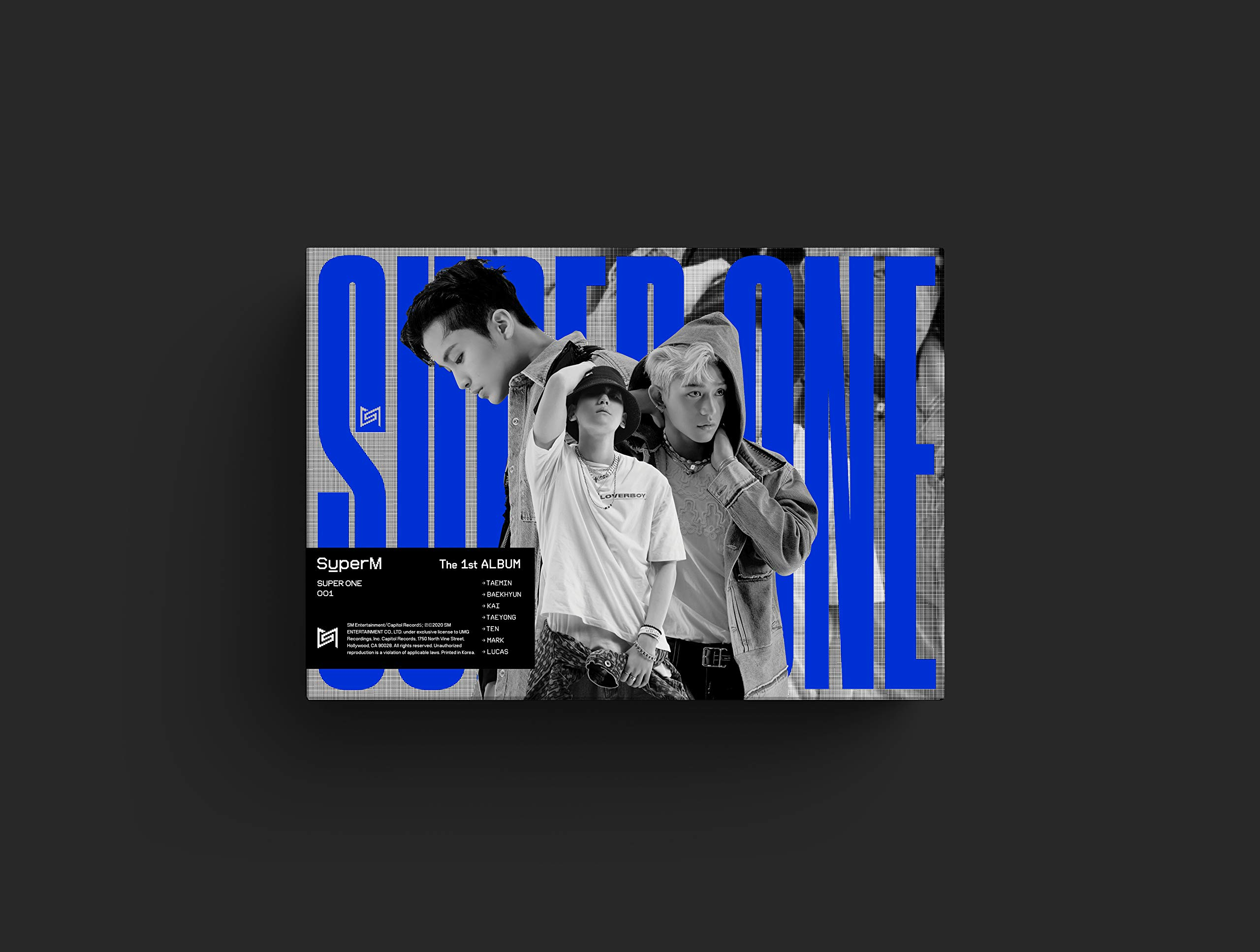 SuperM The 1st Album 'Super One' [Unit B Ver. - LUCAS, BAEHKYUN, MARK]