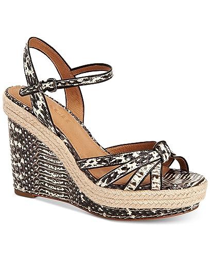 06eeee9a85f Amazon.com: COACH Dalton Espadrille Wedge Sandals Size 11M: Shoes