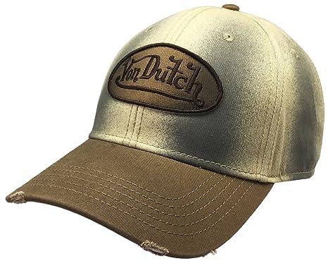 465835054df Von Dutch VDHT136 Dad Distressed Baseball Cap Vintage Style with Different  Colorways (Creamy)