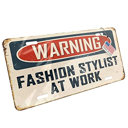Amazon com: NEONBLOND Metal License Plate Warning Fashion
