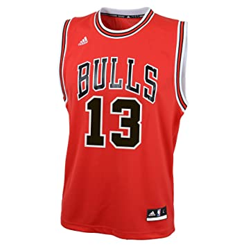 NBA Chicago Bulls Derrick Rose Replica Road Youth Jersey, Red, Small