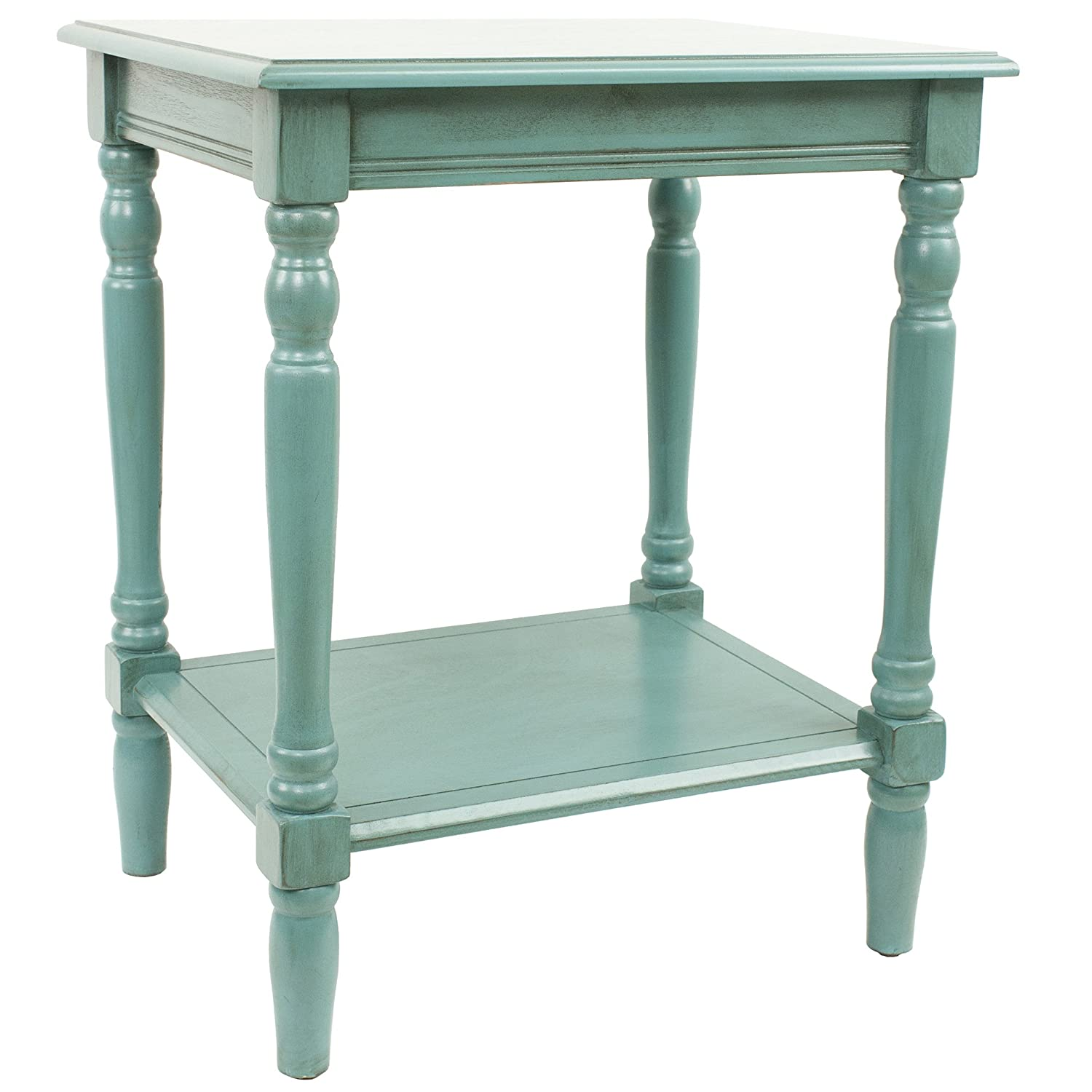 Amazon.com: Décor Therapy Simplify End Table, Blue: Kitchen & Dining