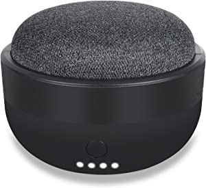 Rechargeable Battery Base for Google Home Mini - 7000mAh Portable Charger by Wasserstein (Black)