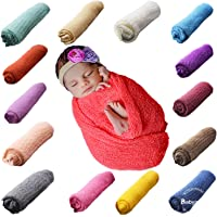 Babymoon Baby Photography Props Stretch Without Wrinkle, Anti-Pilling, Breathable Blanket Swaddle Wrap