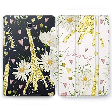 Wonder Wild Paris Pattern Samsung Galaxy Tab S4 S2 S3 AE Smart Stand Case  2015 2016 2017 2018 Tablet Cover 8 9 6 9 7 10 10 1 10 5 Inch Clear Design