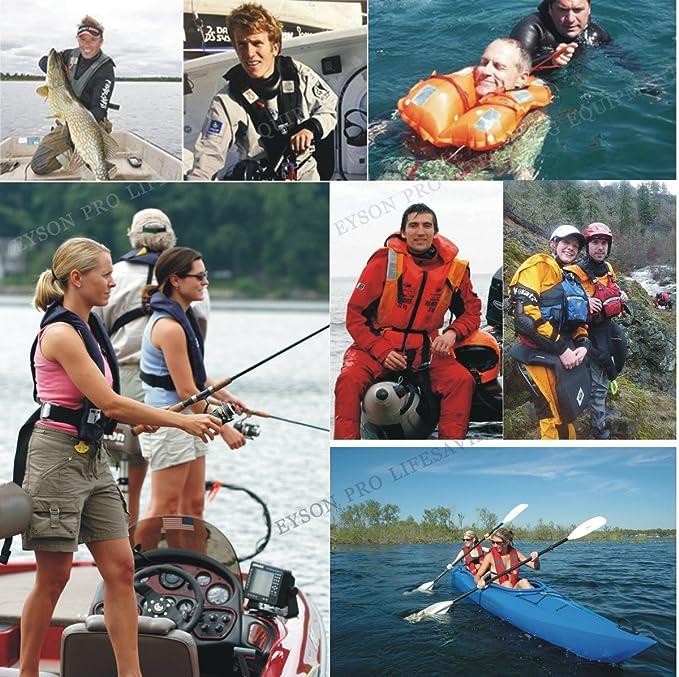 Kayak Ajustable Chaleco Salvavidas para Nadar Chaleco de Pesca TYTOGE Chaleco Salvavidas para Adultos Inflable Port/átil Ayuda flotabilidad Chaleco de Seguridad