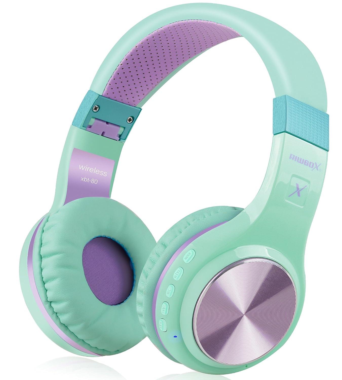 Bluetooth Headphones, Riwbox XBT-80 Foldable Stereo Wireless ...