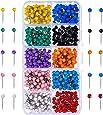 Puntine da Disegno Chiodini Testa in Plastica con Punta in Acciaio, 1/ 8 Pollici, 500 Pezzi