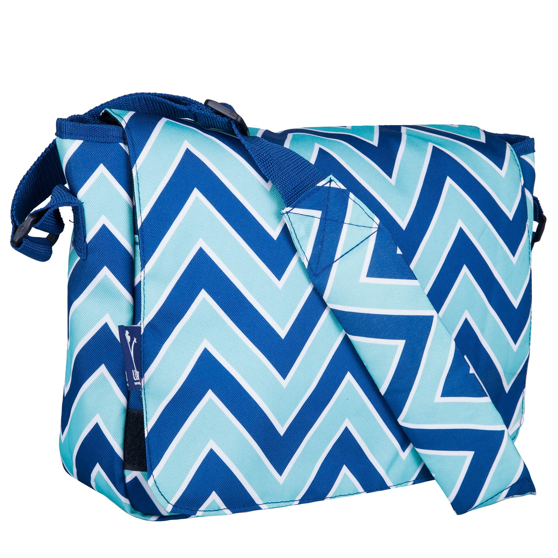 Messenger Bag, Wildkin 13 x 10 Inch Messenger Bag, Includes Interior and Exterior Pockets and Velcro Closure, Ages 8+, Perfect for School, Sports, and Day Trips – Zigzag Lucite