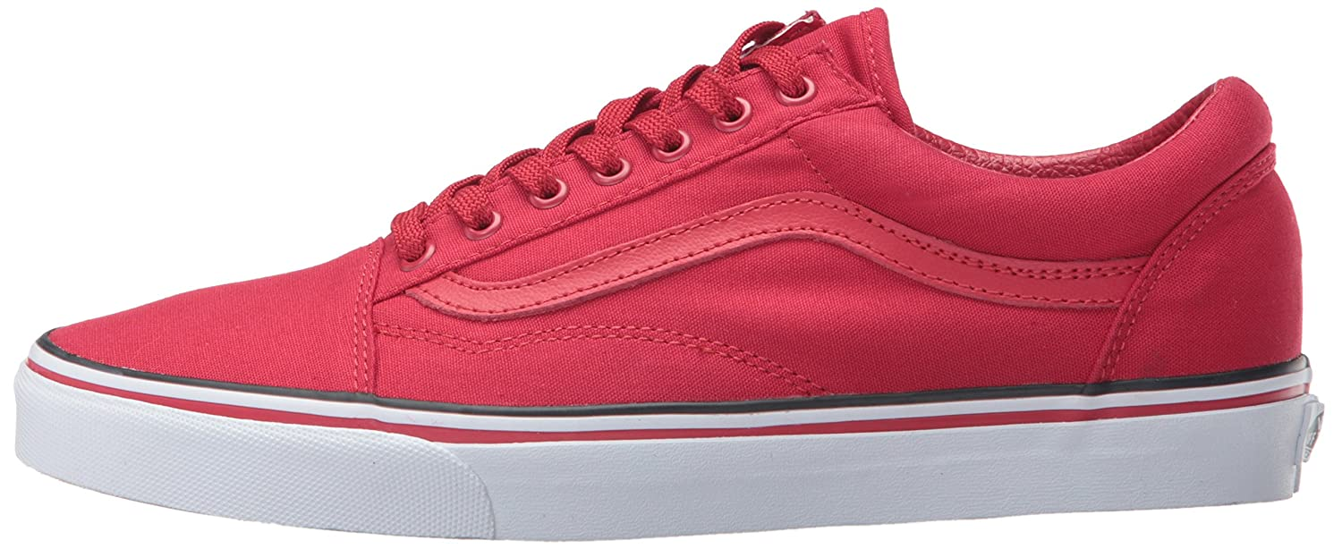 Vans Unisex Shoes Old Skool Classic Skate Shoes Unisex B01BHC6IR8 6 B(M) US Women / 4.5 D(M) US Men|Red, White, Black 0c6ff8