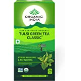 Organic India Tulsi Green Tea Classic 25 Tea Bags, Pack of 3