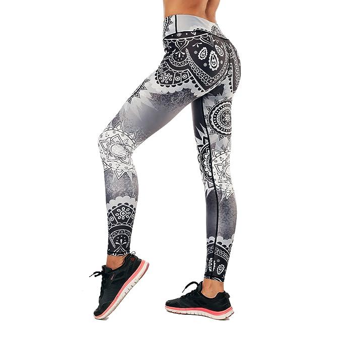 Amazon.com: Leggings de yoga con estampado de arcoíris para ...