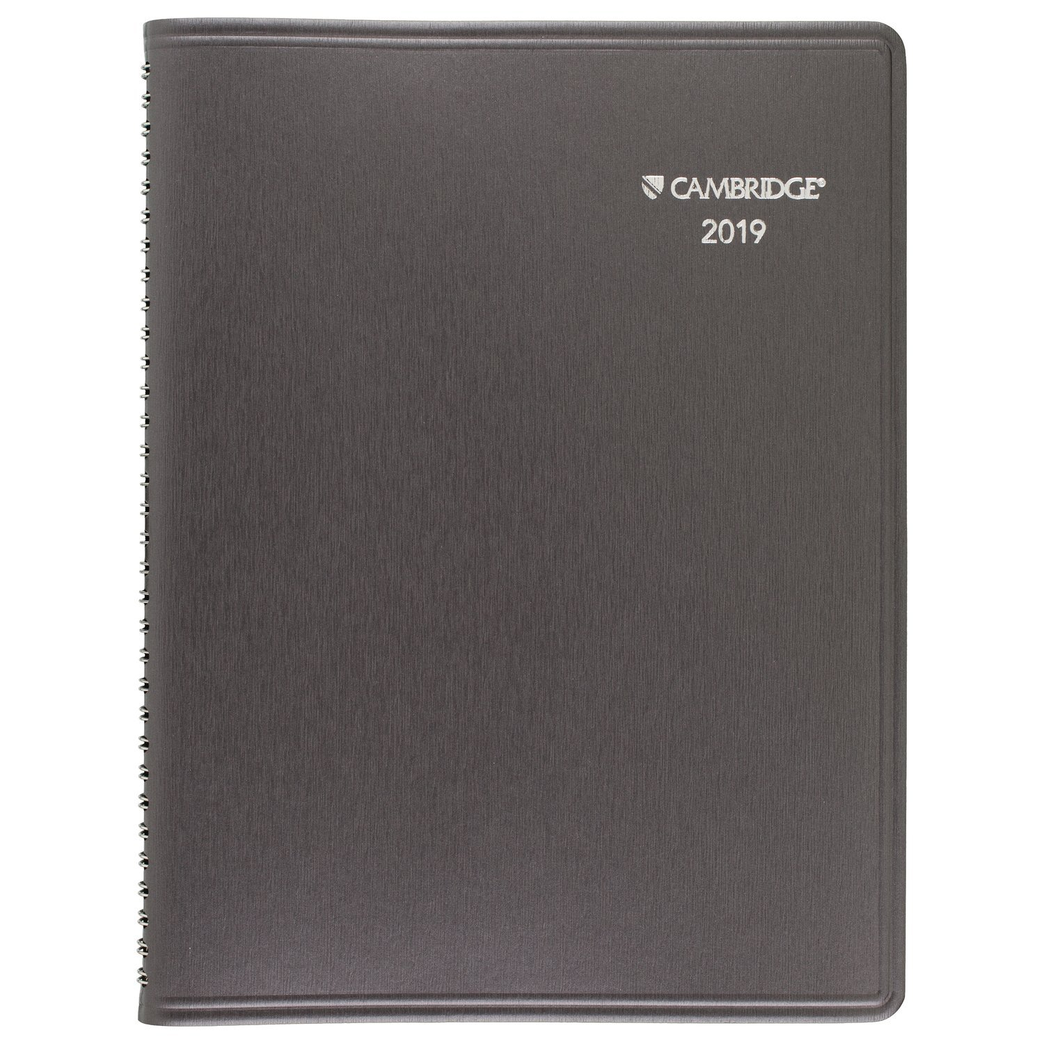 Cambridge 2019 Business Weekly & Monthly Appointment Book / Planner, 8'' x 11'', Large, Silver(CRW60230) by Cambridge (Image #1)