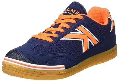 KELME Unisex Adults Trueno Sala Low-Top Sneakers, Blue (Marino/Naranja