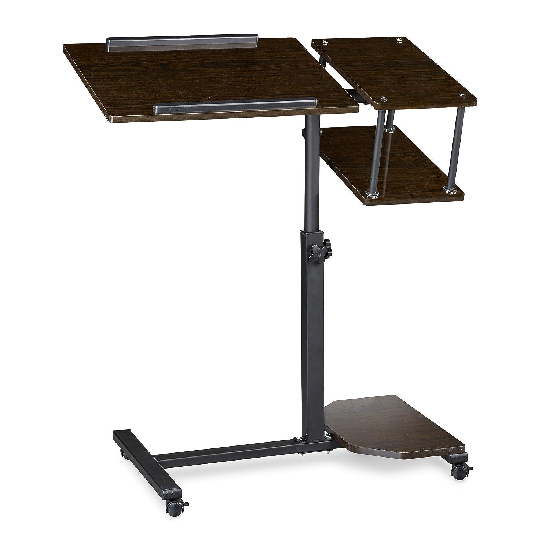 Relaxdays Table Ordinateur Portable Hauteur R Glable Xl Hxlxp 100  # Table Ordi En Bois