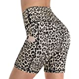 """Promover High Waist Biker Yoga Shorts for Women with Pockets Workout Running Compression Shorts 5""""/8"""" Tummy Control"""