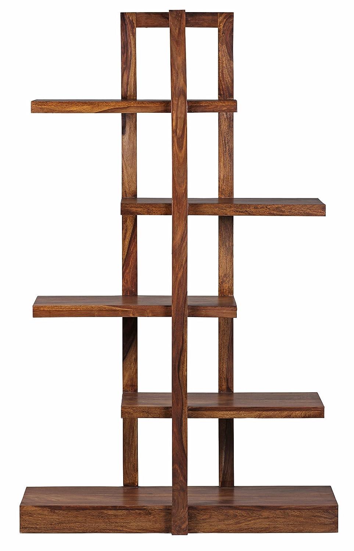 1PLUS Design Massives Bücherregal Sheesham 180 x 110 x 40 cm Massivholz