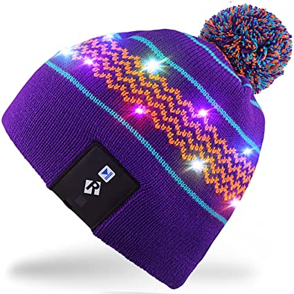 Rotibox Elegante LED String Light Up cappello Beanie cappello a maglia con  fili di rame Luci f9b95c132067