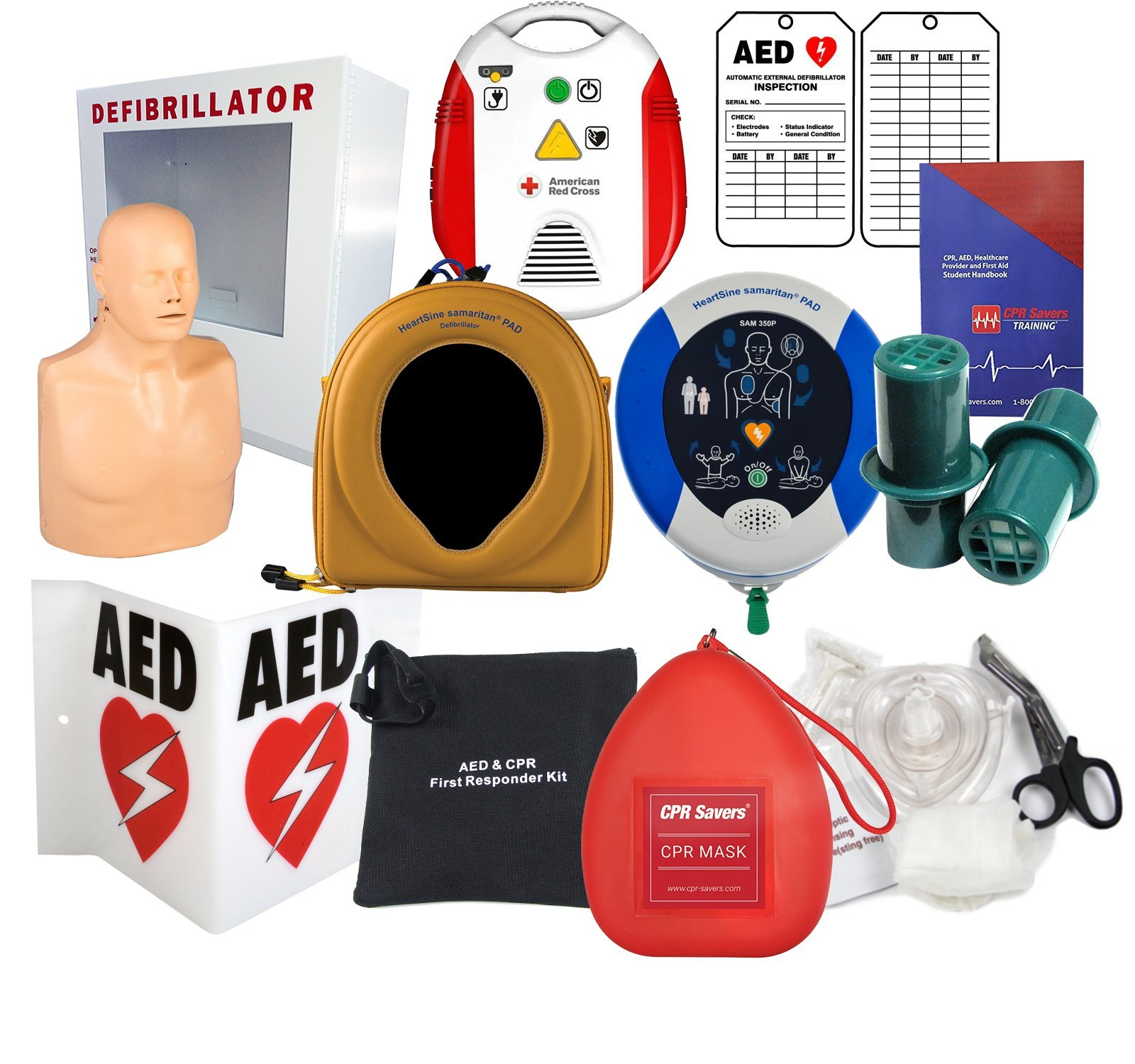 Deluxe Heartsine Defibrillator and Training Package