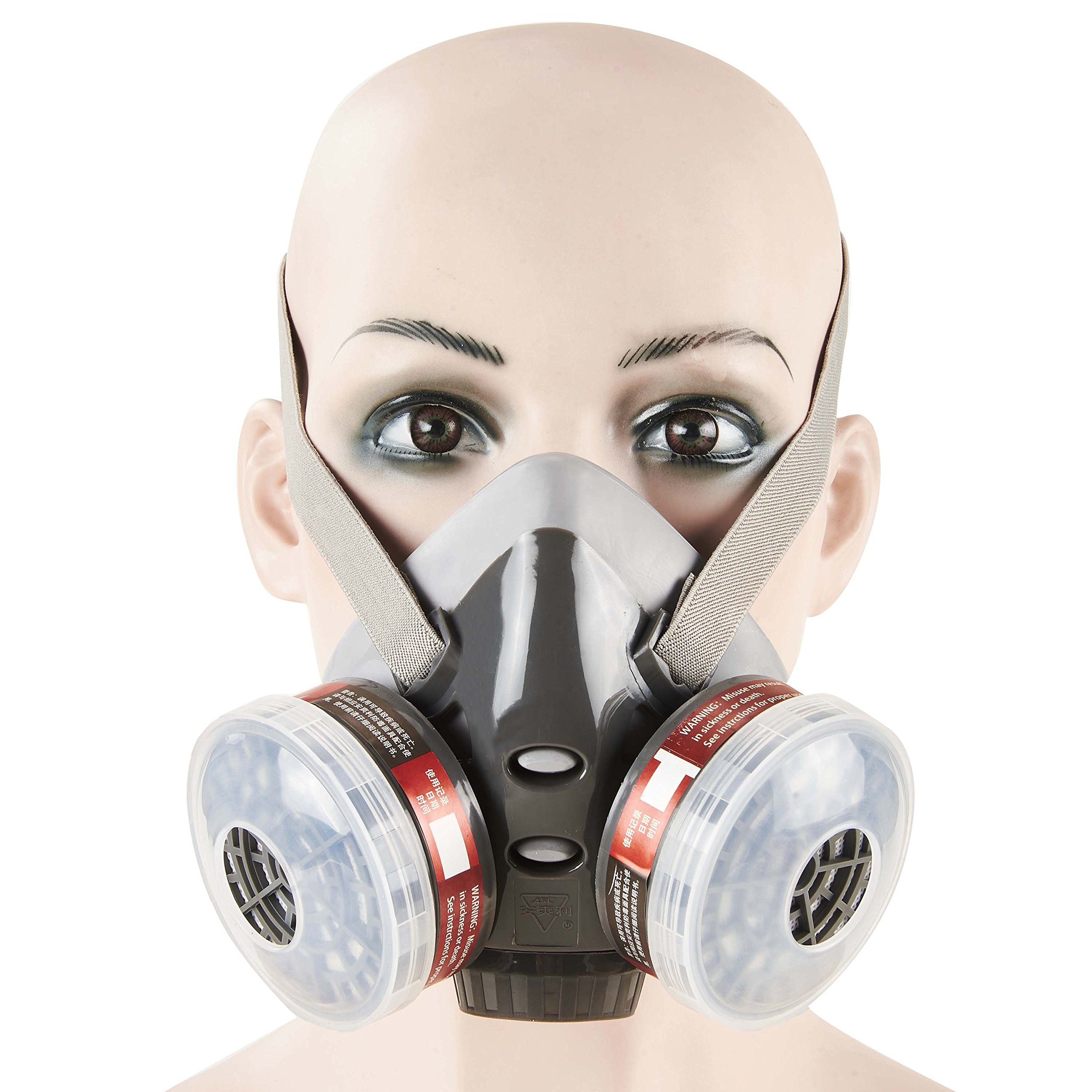 Mufly Respirator Anti -Dust Industrial Mask PM 2.5 Half Face Piece Reusable Respirator Paint Breathing Mask Face Protection by Mufly (Image #1)