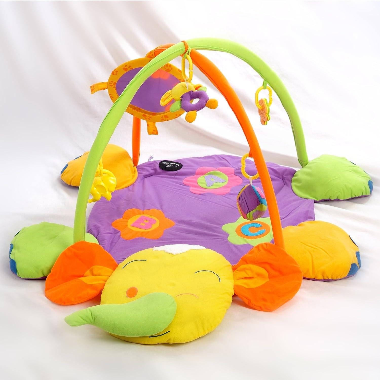 Alfombras de juego y gimnasio para bebés, mantas de actividades elefante. Regalo bebé mantas de actividades elefante. Regalo bebé TORAL BEBE SL