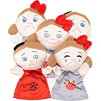Oerich Emotion Hand Puppets Soft and Cuddly Toys for Children and Adults (Set of 5)