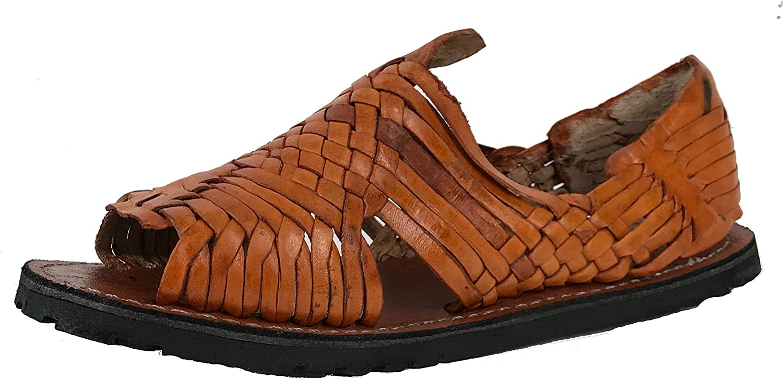Handmade Mens New Leather Soft Woven Sandals Flip Flop Slip Huaraches Cognac