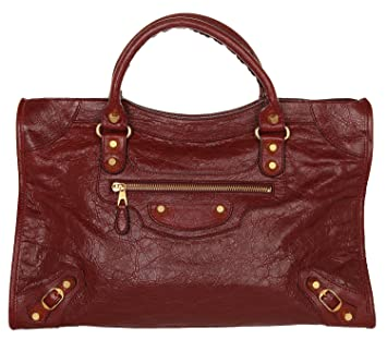 b60165adac59 Balenciaga Women Giant City Bag Gold Rouge Brique BAL063  Amazon.co.uk   Luggage