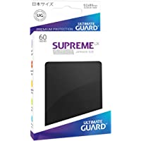 Ultimate Guard Supreme UX Sleeves, Japanese Size, Black, 60 Counts