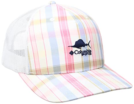 954ab74d Amazon.com : Columbia Super Bonehead Mesh Ball Cap, Cupid Gingham ...