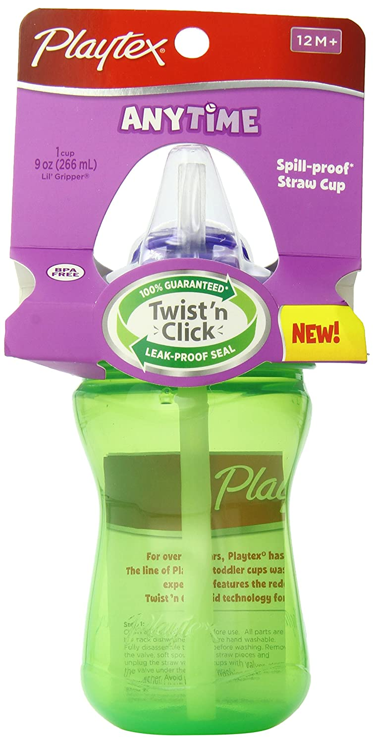 Playtex Baby Sipsters Spill-Proof Spout Sippy Cups, Stage 2 (9 Months+), Pack of 2 Cup 05939