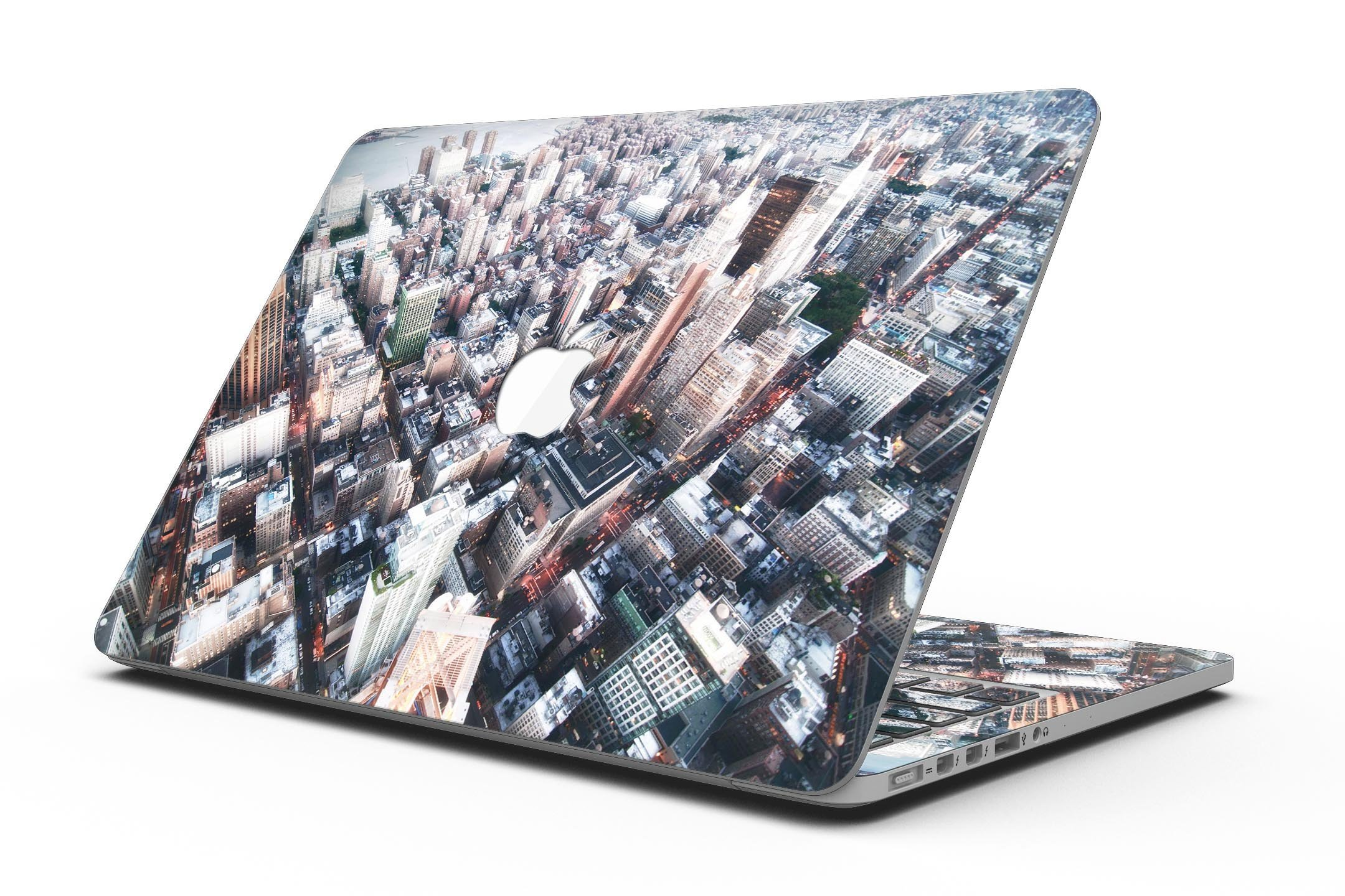 Vintage Aerial Cityscape - MacBook Pro with Retina Display Full-Coverage Skin Kit by iiRov (Image #1)