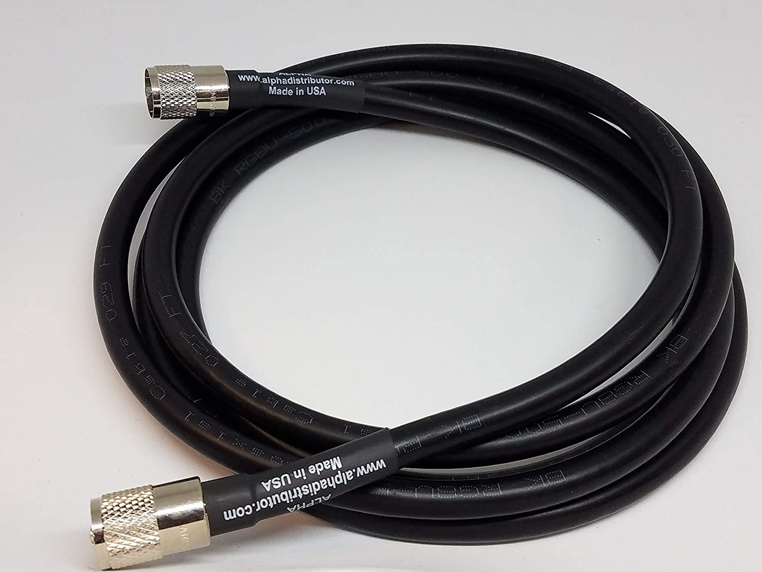 40ft RG8u Coax Cable with AMPHENOL PL259s Attached Alpha