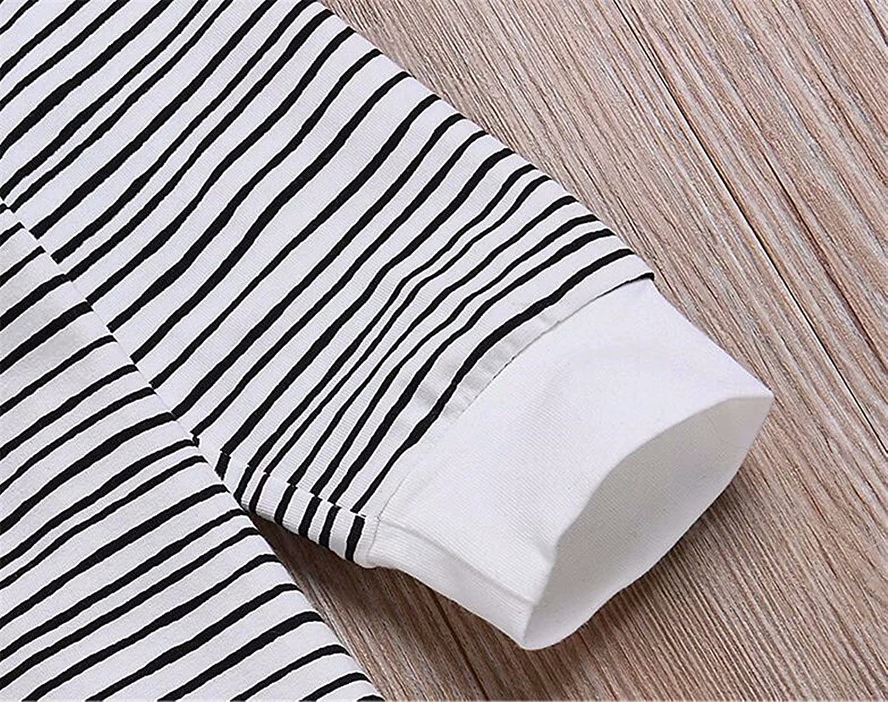 EGELEXY Baby Boys Girls Cotton Long Sleeve Striped Outfit Romper Kids Hooded Onsie Robe