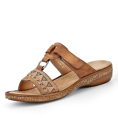 c56e48cde67152 Rieker Weiblich Microvelour Sandale  Rieker  Amazon.de  Schuhe ...