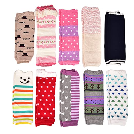 013c02c32bcb1 6 Pairs Baby Girls Leg Warmers, Infant Newborn Girl Leggings Knee Pads