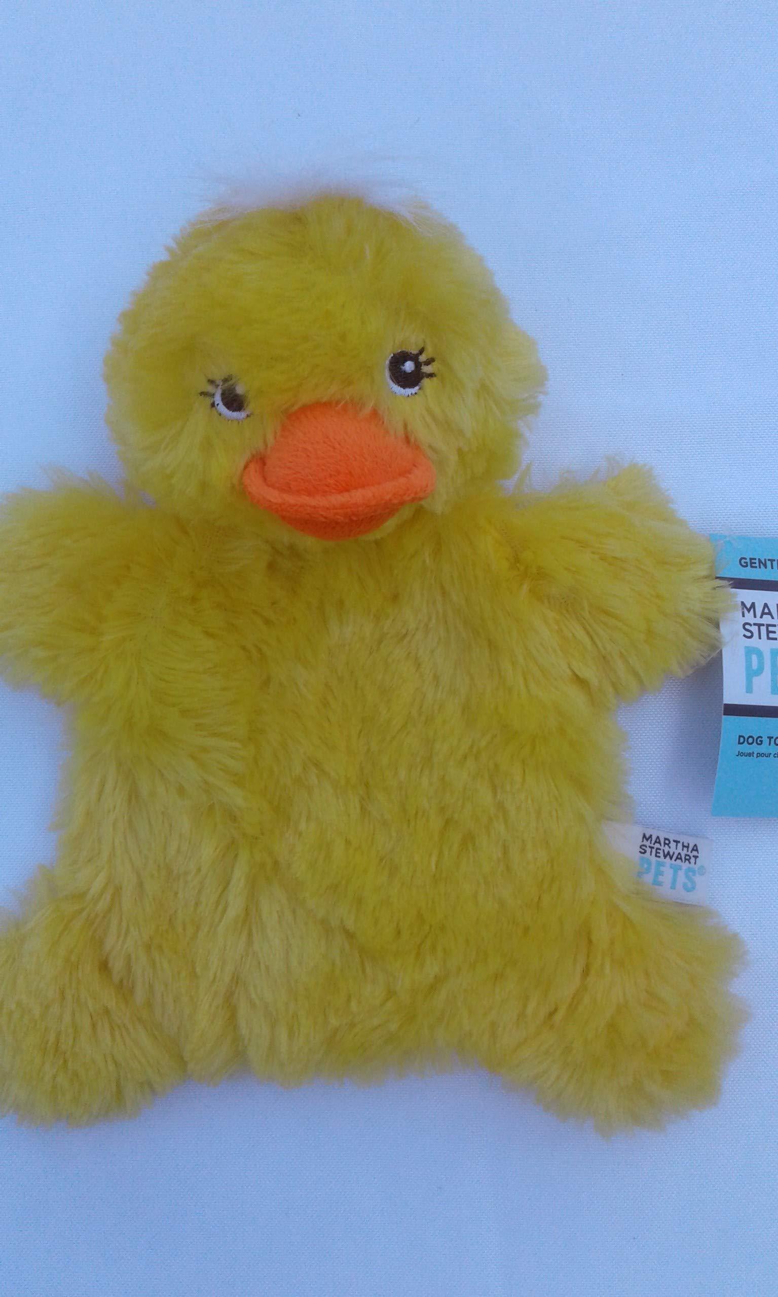 Martha Stewart Pets Plush Yellow Duck Crinkle & Squeaker Dog Toy